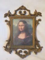 ornate picture frame plastic Hong Kong wall decor w/ Mona Lisa print