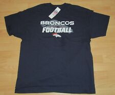 Denver Broncos Football Team Cotton Shirt T-shirt Men's Size 3XL - Navy