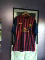 official Nike Dri Fit Barcelona Shirt 2011/12 Home - Messi - Medium