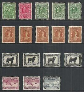 NEWFOUNDLAND 1931 MINT HINGED ISSUES   CV $34.55