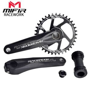 One-piece Center Lock Crank Hollow Integrated Cranksets 9-11 Speed MTB Road GXP