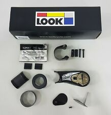 Look Aerostem 31.8mmx80mm Carbon Stem Gloss Black Silver