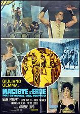 CINEMA-soggettone MACISTE L'EROE PIU' GRANDE DEL MONDO gemma, greci, LUPO
