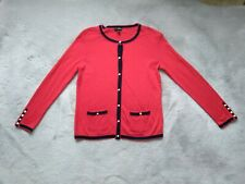 Talbots Cardigan Sweater Petites Front Buttons Beaded Long Sleeve Sz SP