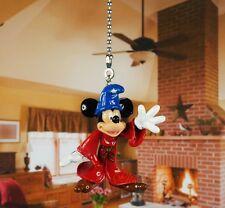 Mickey Mouse Fantasia Sorcerer Ceiling Fan Pull Light Lamp Chain Decor K1056