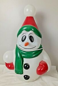 "Vintage 22"" Snowman Christmas Blow Mold, General Foam Plastics Yard Decoration"