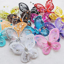 10pcs Beauty Artificial Butterfly Wedding Decoration Decor Party Christmas
