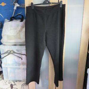 Simply Stockshop Plain Black pull on trousers size 16