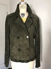 Ralph Lauren Collection Women's Suede Peacoat - Olive -Size 8