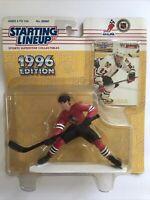 JEREMY ROENICK - Chicago Blackhawks - Starting Lineup SLU NHL 1996 Figure & Card
