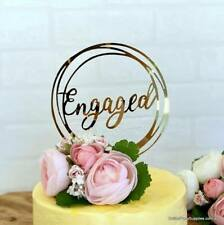 We're Engaged, Engagement Acrylic Cake Topper Mirror Rose Gold