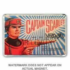 RETRO 60's LONE STAR- CAPTAIN SCARLET GUN BOX ART JUMBO FRIDGE / LOCKER MAGNET