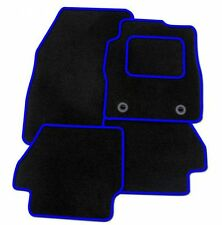 NISSAN JUKE 2010 ONWARDS TAILORED CAR FLOOR MATS- BLACK WITH BLUE TRIM