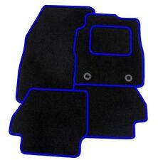 FORD Fiesta Mk6 2002-2008 TAILORED CAR FLOOR MATS- BLACK WITH BLUE TRIM