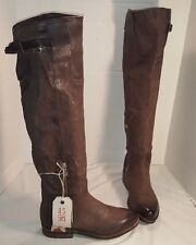 NEW FREE PEOPLE AS 98 ROYCE BROWN LEATHER OVER THE KNEE BOOTS US 7 EUR 37
