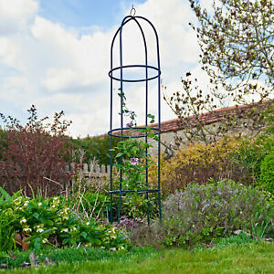 Garden Obelisk Metal Climbing Plant Cage Support Pyramid 1.2m Contemporary