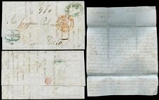 PORTUGAL 1852 PORTO ACCOUNTING from LONDON + ENTIRE LETTER VFU to PINTO LEITE