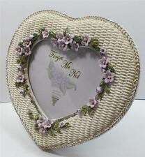 """JOB LOT X 10 Antique style """"Forget me not"""" /HEART/PHOTO FRAME/VALENTINE/ 29202"""