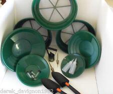 SE GREEN SUPER DELUXE GOLD PANNING KIT - Classifier, Pan, Tweezer, Magnet ect