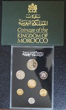 1974-75 KINGDOM OF MOROCCO PROOF SET OF 7 COINS with Original Covers - NCC