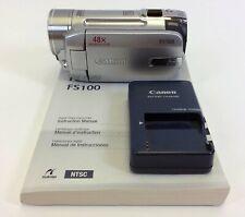 Cannon FS100 Digital Video Silver Camcorder