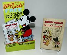 """DISNEY 1930's""""MICKEY MOUSE RECIPE SCRAPBOOK""""-BREAD CO. PROMOTION-COMPLETE+SIGN!!"""