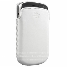 Genuine Official BlackBerry 9900 White Leather Pocket Pouch Case HDW-38844-002