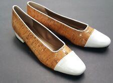 Vaneli Women's 'Frankie' Dress Shoes White Cap Toe Cork  Narrow Size 11