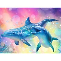 5D Dolphin Full Drill Diamond Painting Embroidery Animal DIY Stitch Kits Decor
