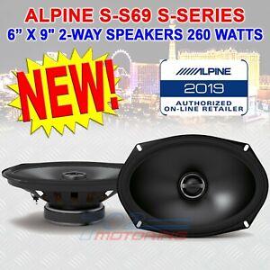 "ALPINE S-S69 6"" x 9"" CAR AUDIO STEREO 260W 2-WAY SILK TWEETERS COAXIAL SPEAKERS"