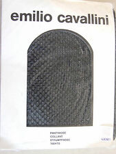 Emilio Cavallini BNIP M Totally Gorgeous Black Mesh Tights Pantyhose wth Silver