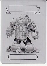 GARBAGE PAIL KIDS PRIME SLIME TRASHY TV PRINTING PLATE SY BORG COMIC BOOK #7 GPK