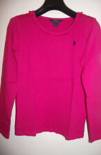 Authentic Ralph Lauren Pink Long Sleeve Top Age 2 3 5 - 6 Years