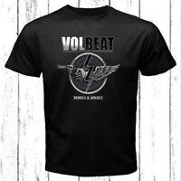Volbeat Rebels and Angels Logo Men's Black T-Shirt Size S-3XL