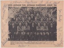SOUTH AUSTRALIA SANFL TEAM AUST CHAMP 1966 RARE SIGNED PHOTO COA