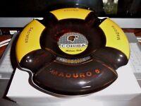 Cohiba Maduro 5  cigar ashtray made by Byron in original  box