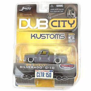 Jada Dub City Kustoms 1985 85 Chevy Silverado C-10 Gray Chevrolet Diecast 1/64