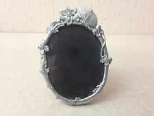Elias Fine Pewter 1981 Floral Butterfly Small Oval Frame