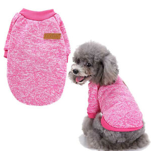 Small Dog Cat Yorkie Jumper Sweater Knitted Puppy Pet Warm Fleece Coat Clothes