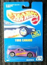 Hot Wheels Blue Card #202 1993 Chevrolet Camaro [100]