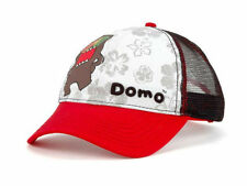 "NWT DOMO ""GLASSES"" MESH TRUCKER CAP ADJUSTABLE RED/WHITE/BLACK"