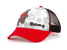 "NWT DOMO ""GLASSES"" MESH TRUCKER CAP ADJUSTABLE RED/WHITE/BLACK"