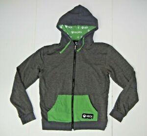MICROSOFT Gray/Green Spandex Blend XBOX HOODIE Jacket Sweatshirt Coat Men's XL