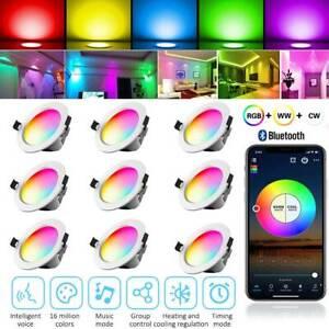 LED Einbaustrahler Bluetooth 5W RGB Einbauleuchten Decken Spot Deckenstrahler
