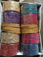Bollywood Belly Dance Indian gold Bangles bracelets Size 2.8 Ten Dozens