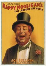 "TARGA VINTAGE ""HAPPY HOOLIGAN'S""Locandina Storica Poster,PUBBLICITA',BAR,PUB"