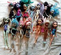 HUGE 14 Monster High & Ever After Doll Lot Rochelle Goyle Nefera de Nile Spectra