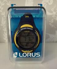 Lorus Navy/Yellow Water Resist, Alarm, Back Light. Digital Sports Watch