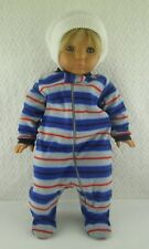 Doll Clothes Garanimals Striped Velour Sleeper Newborn Infant Outfit