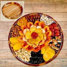 Vacaville Fruit Company 74 oz, Dried Fruit & Nut Grand Acacia Wood Tray Gift